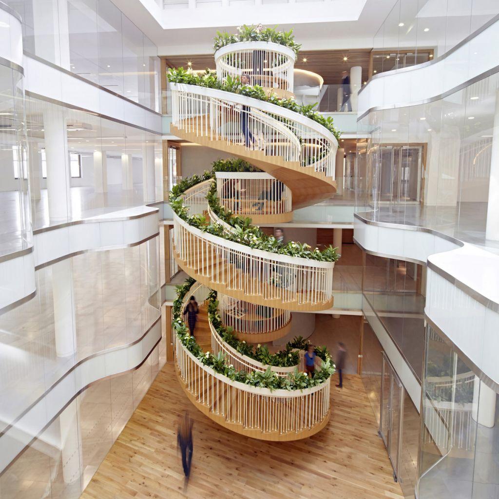 Vegetación integrada Living Staircase